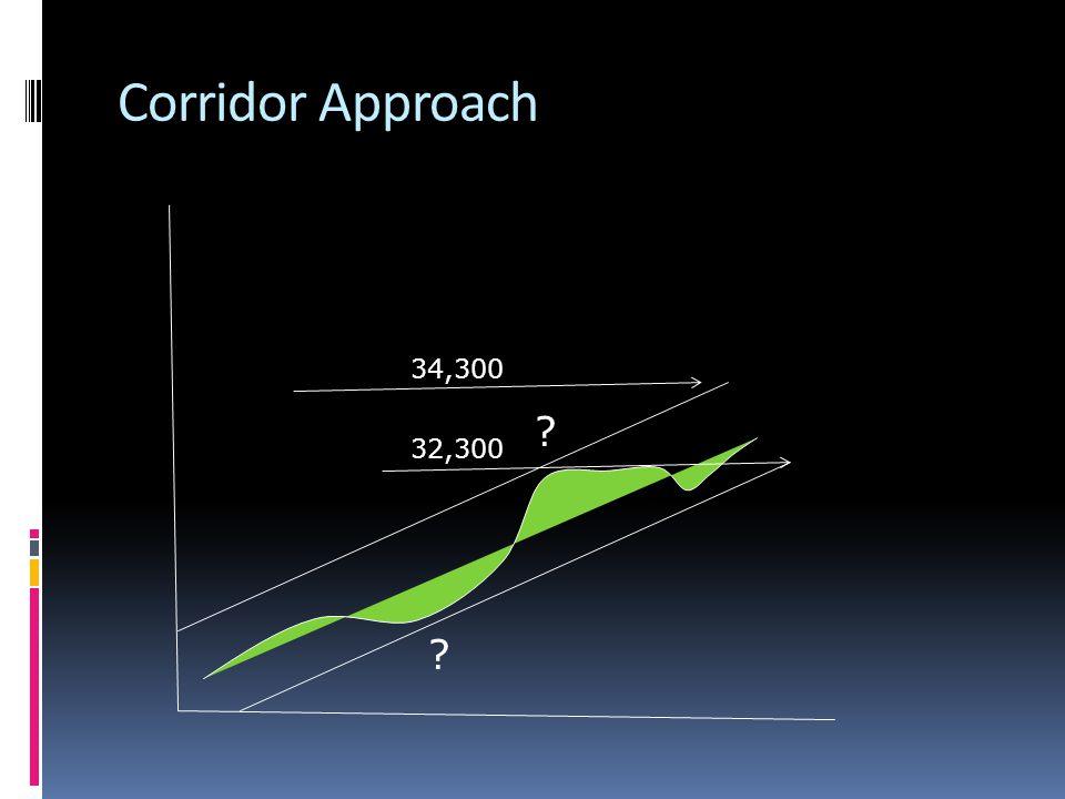 Corridor Approach 34,300 32,300