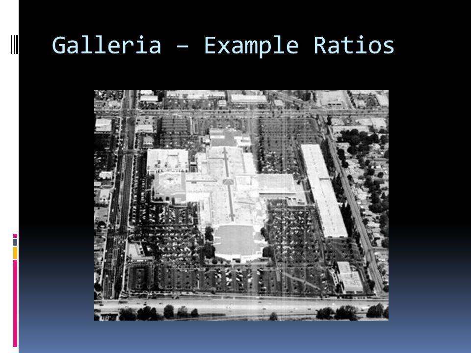 Galleria – Example Ratios