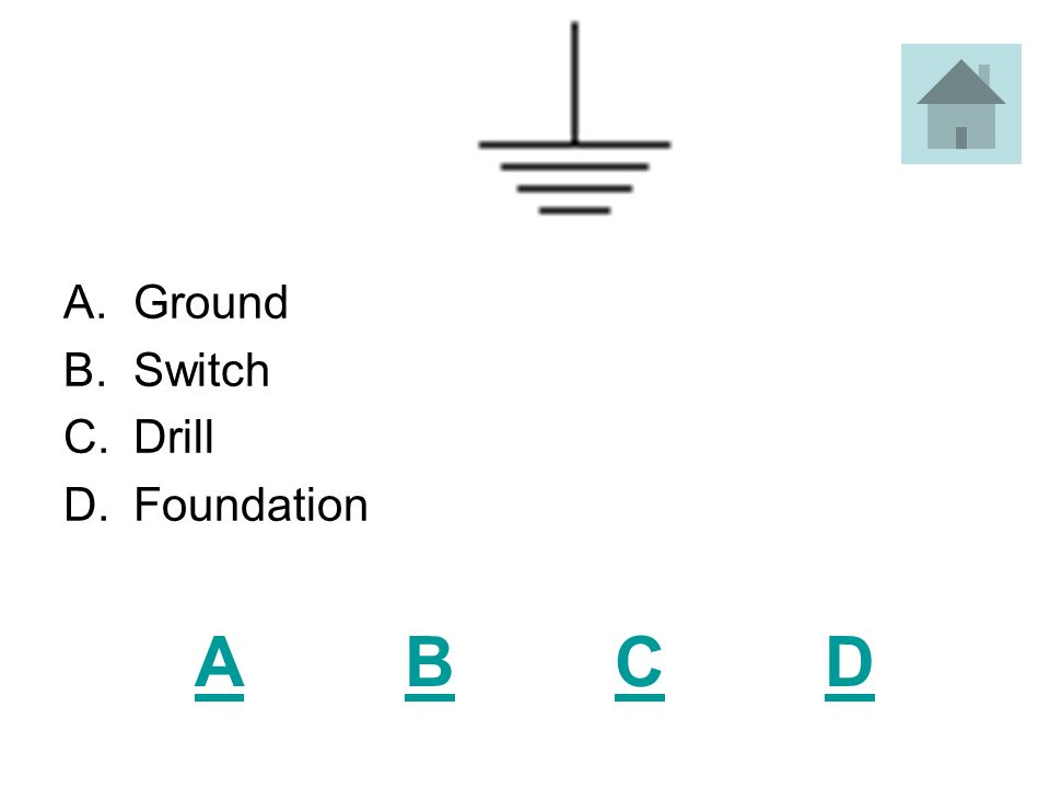 ABCDABCD A.Ground Marker B.Circuit Marker C.Circuit Breaker D.Ground Breaker