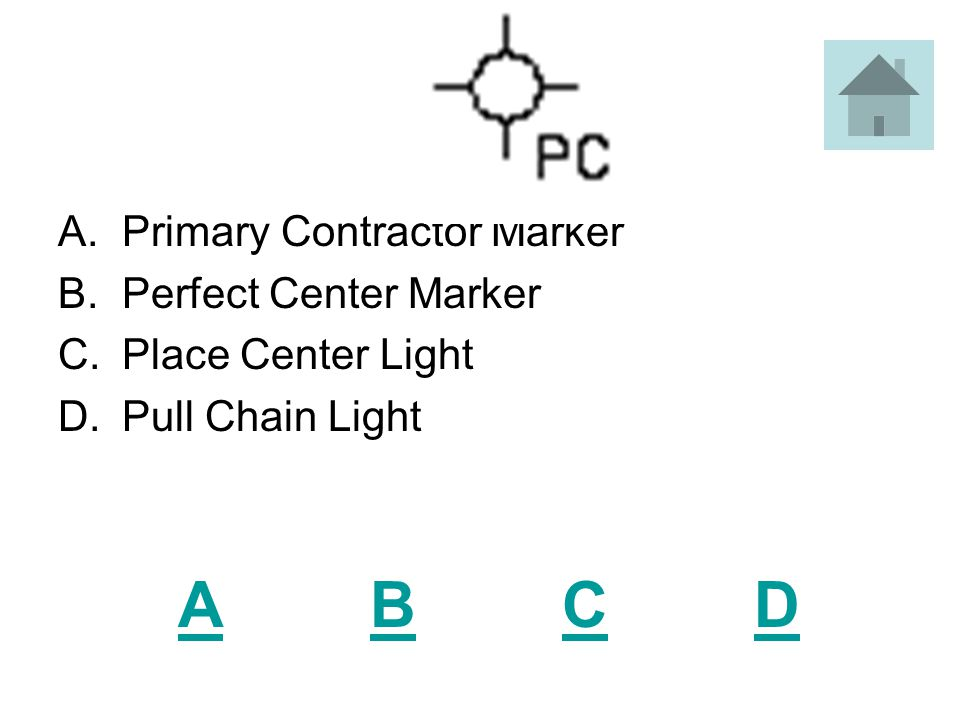 ABCDABCD A.Drainpipe Placement Marker B.Well C.Hole Placement Marker D.Light Fixture