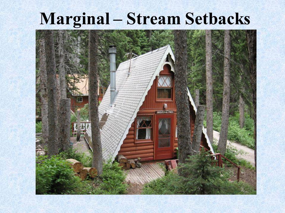 Marginal – Stream Setbacks