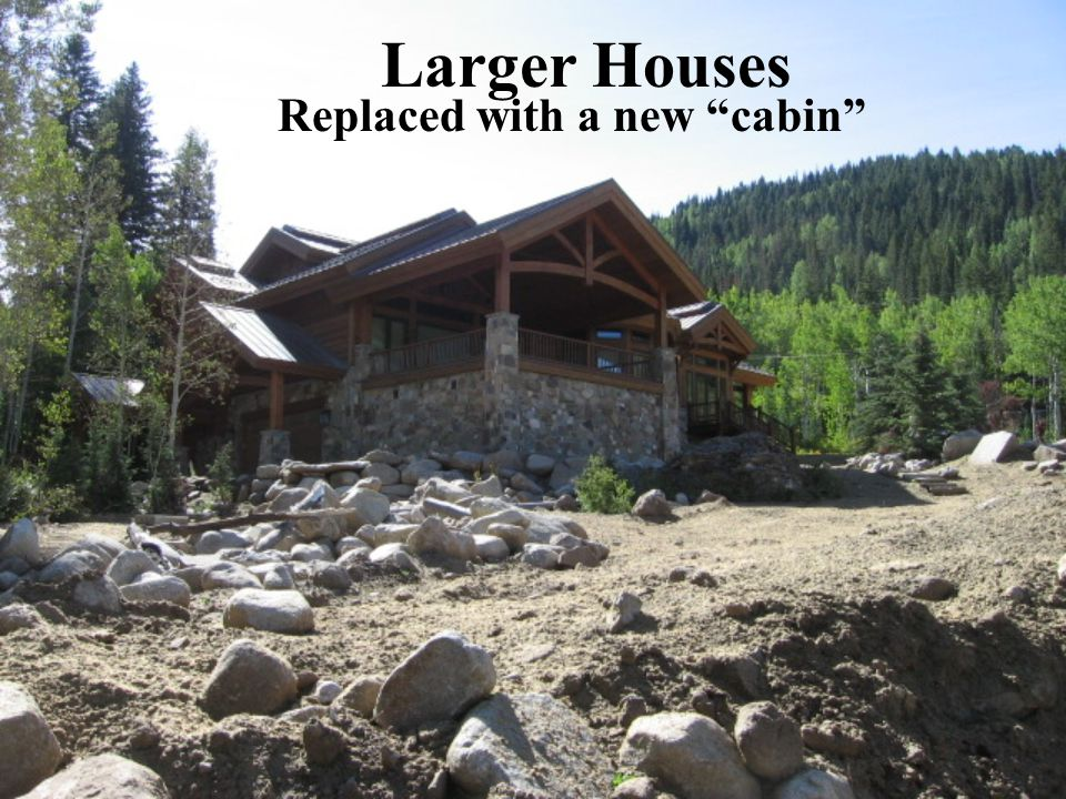 """Larger Houses Replaced with a new """"cabin"""""""