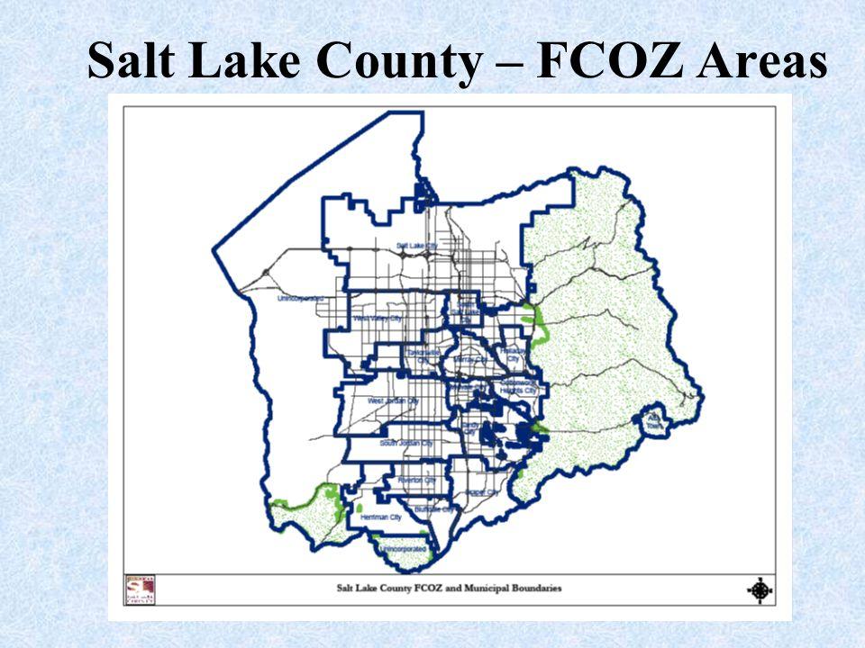 Salt Lake County – FCOZ Areas