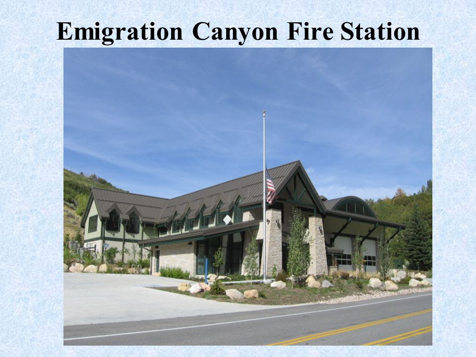 Emigration Canyon Fire Station