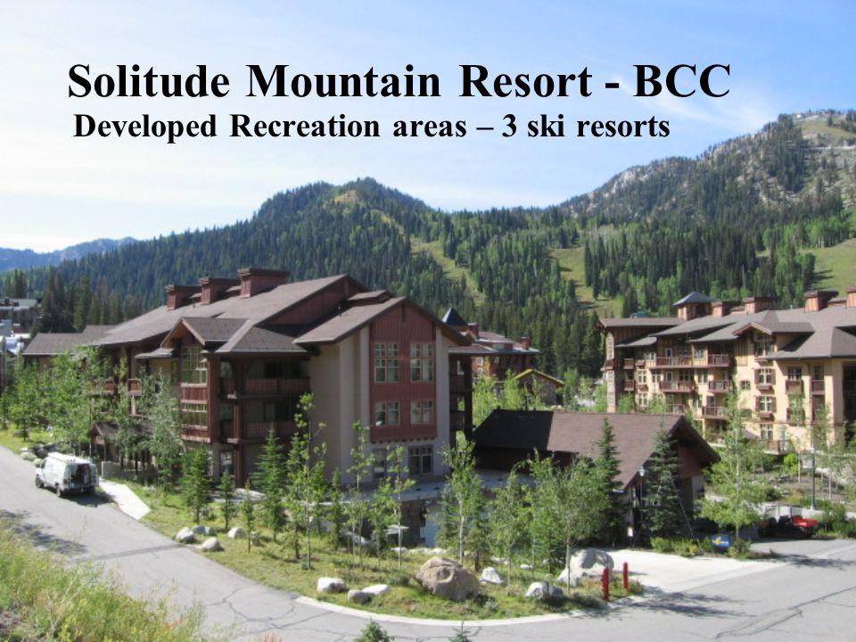 Solitude Mountain Resort - BCC Developed Recreation areas – 3 ski resorts