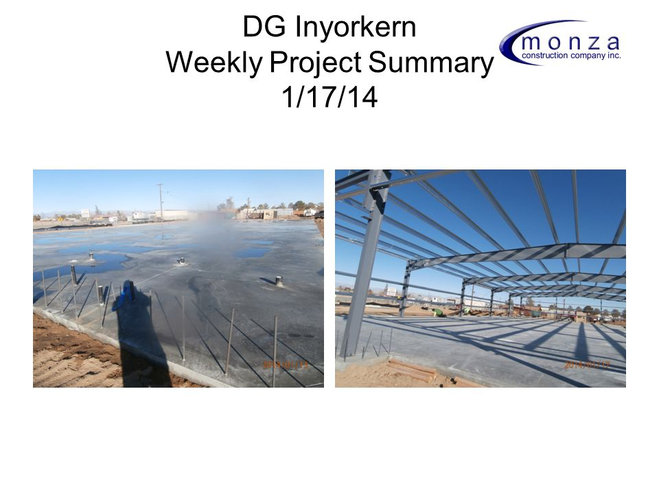 DG Inyorkern Weekly Project Summary 1/17/14