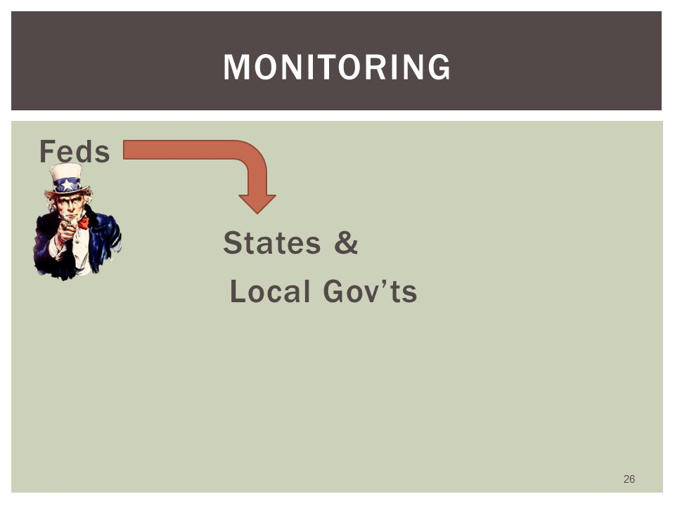 Feds States & Local Gov'ts MONITORING 26