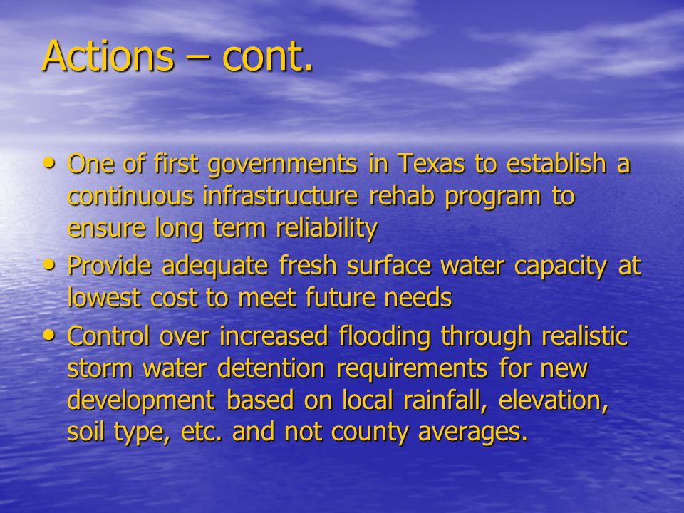 Current Hot Button Flood Control