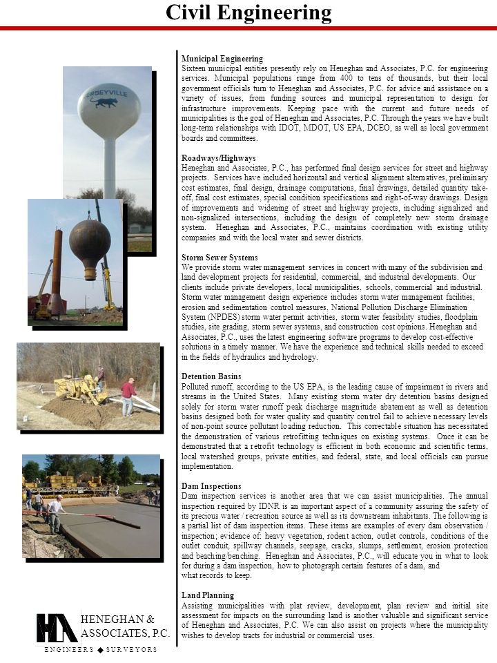 Civil Engineering HENEGHAN & ASSOCIATES, P.C.