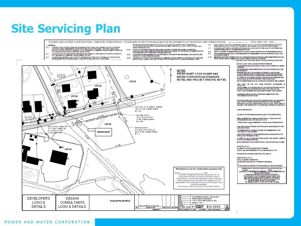 Site Servicing Plan