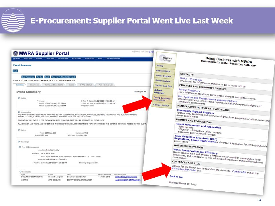 E-Procurement: Supplier Portal Went Live Last Week 34