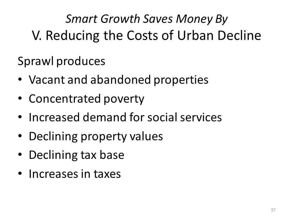 Smart Growth Saves Money By V.