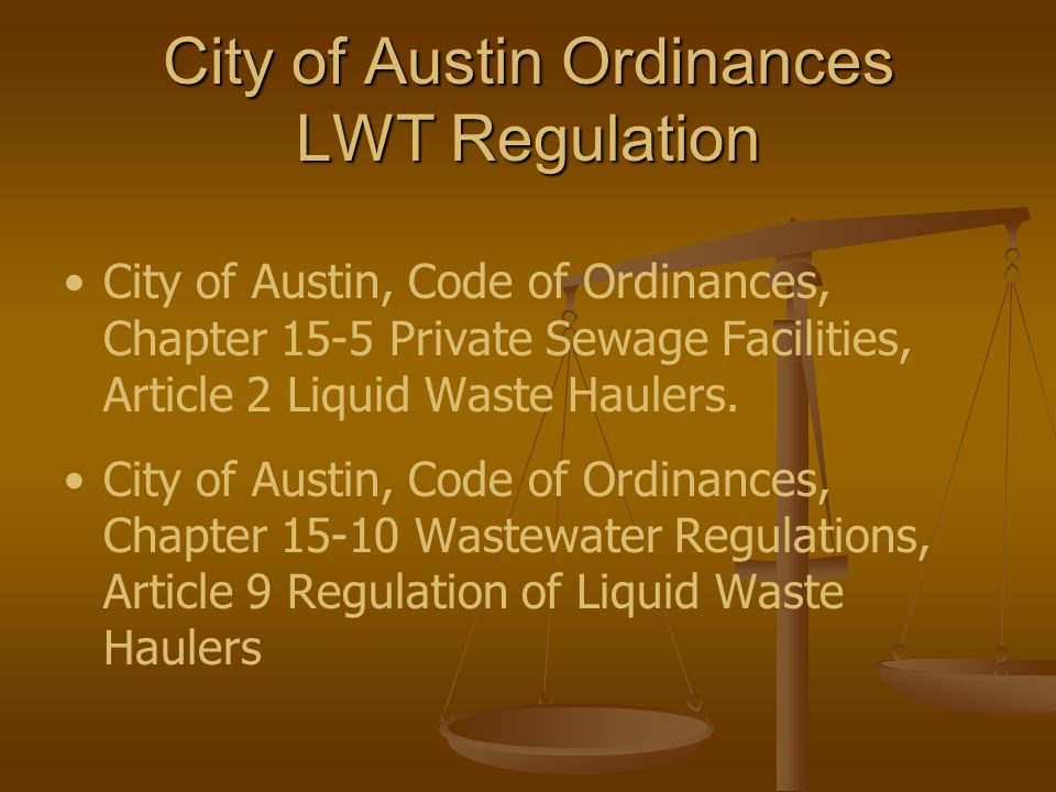Authority and Procedural Considerations Federal Waste Regulation– 40 CFR Authority to Investigate Federal Waste Regulation– 40 CFR Authority to Investigate LWT Program Procedures Manual LWT Program Procedures Manual Control Mechanisms: annual permits (explicit and detailed requirements/vary requirements for permittee history of non- compliance), POTW discharge privileges, case-by-case special POTW discharge authorizations process, wastewater service contracts Control Mechanisms: annual permits (explicit and detailed requirements/vary requirements for permittee history of non- compliance), POTW discharge privileges, case-by-case special POTW discharge authorizations process, wastewater service contracts