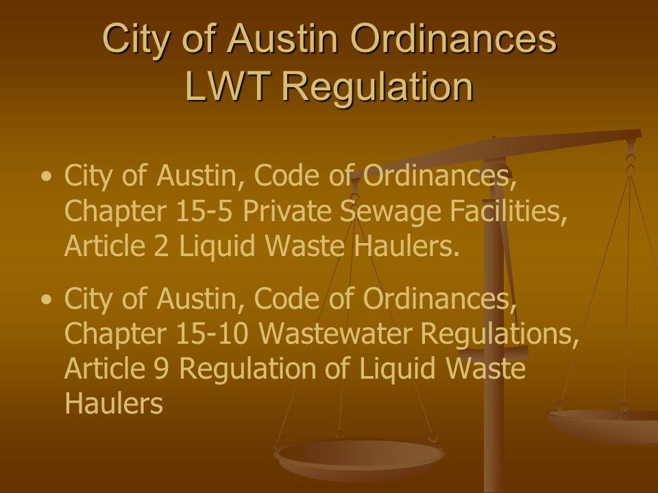 Erin La Rue Pretreatment Compliance Specialist erin.larue@ci.austin.tx.us Tel: (512) 972-1060Fax: (512) 972-1260