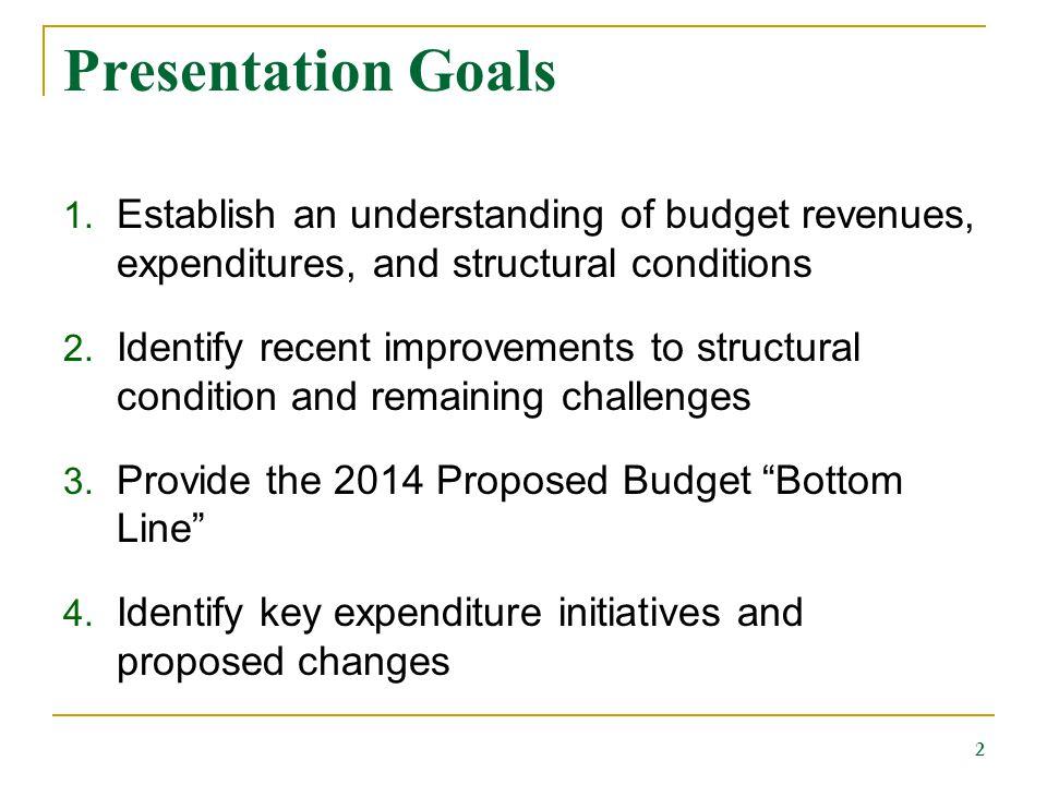 Presentation Goals 1.