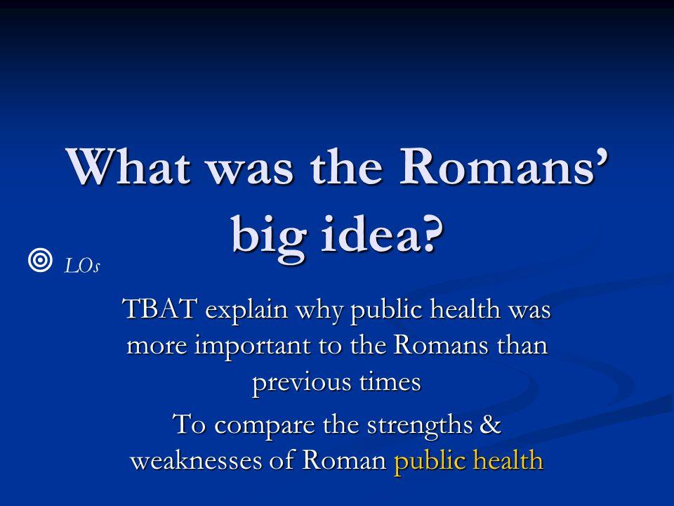 What was the Romans' big idea.