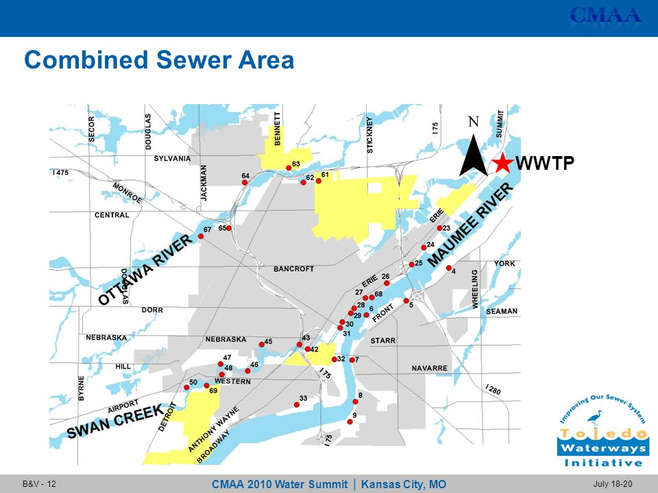 CMAA 2010 Water Summit | Kansas City, MO July 18-20B&V - 12 Combined Sewer Area WWTP