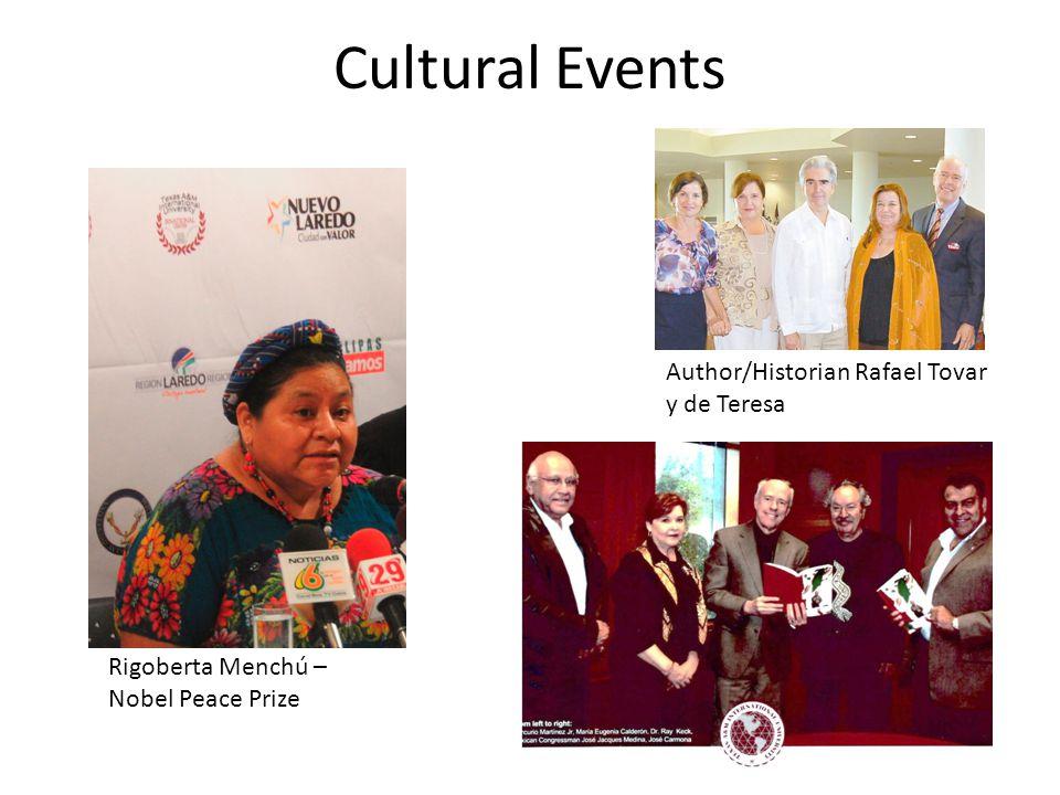 Cultural Events Rigoberta Menchú – Nobel Peace Prize Author/Historian Rafael Tovar y de Teresa