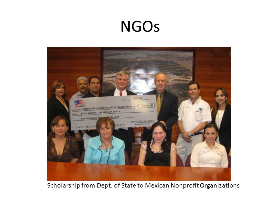 NGOs Scholarship from Dept. of State to Mexican Nonprofit Organizations