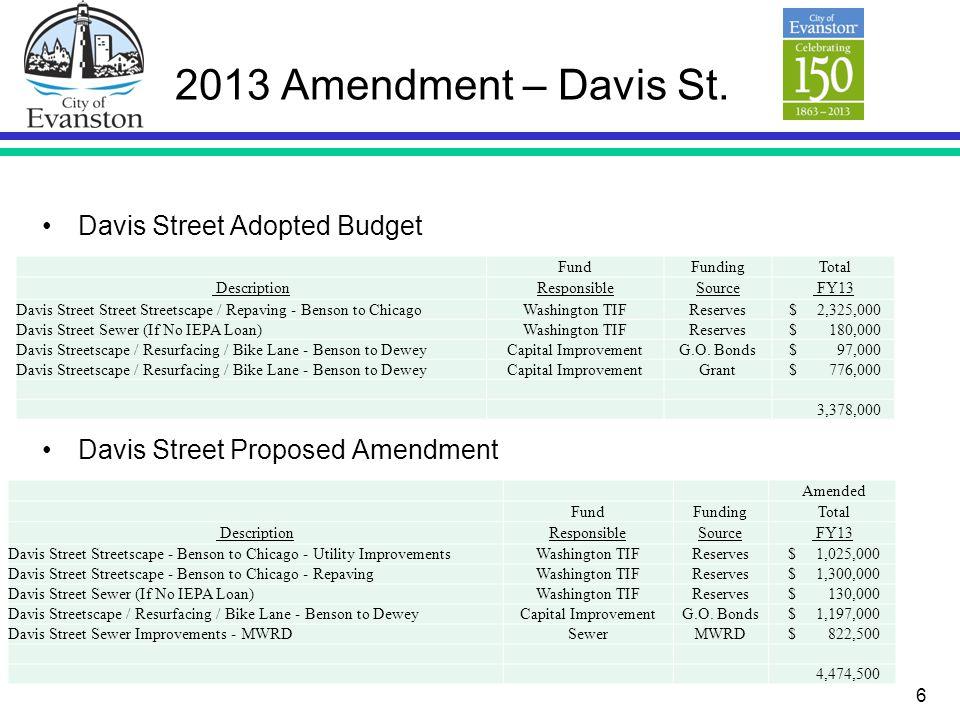 6 2013 Amendment – Davis St.