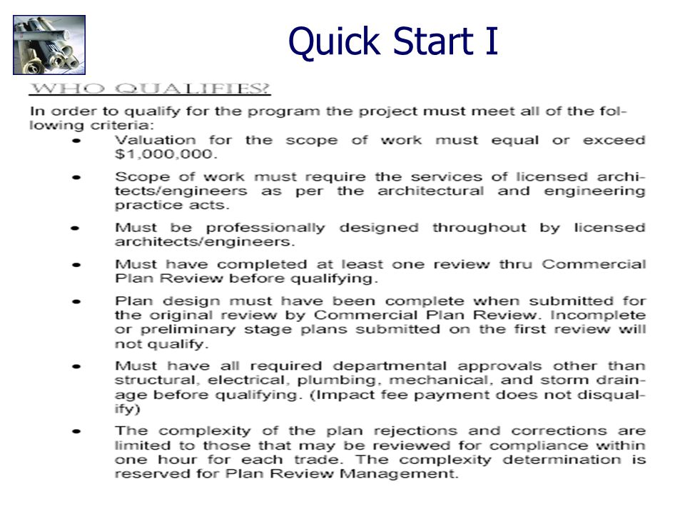 38 Construction Code Analysis Quick Start I