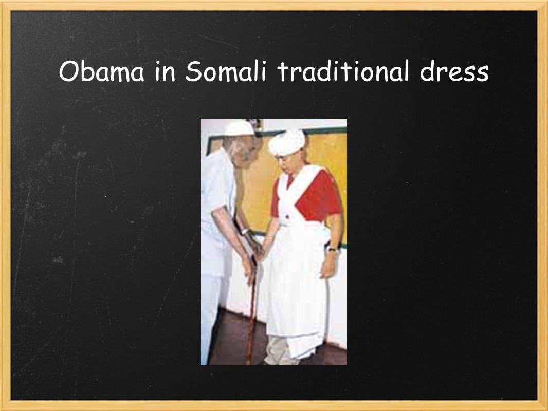 Obama in Somali traditional dress
