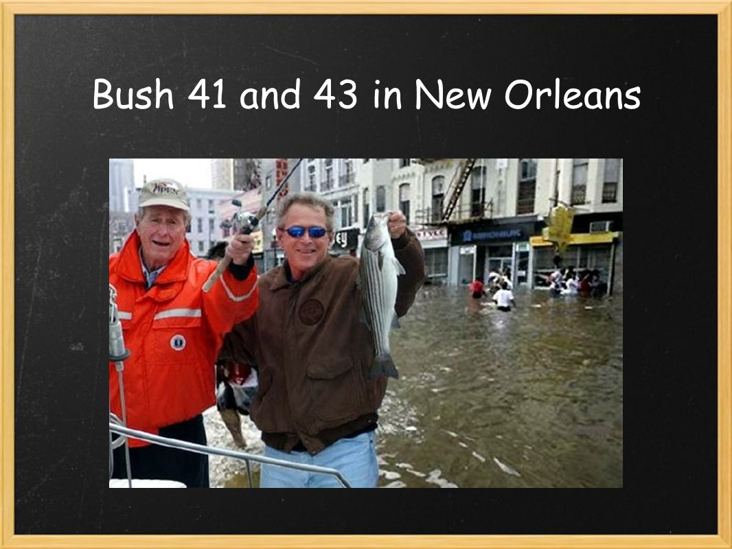 Bush 41 and 43 in New Orleans