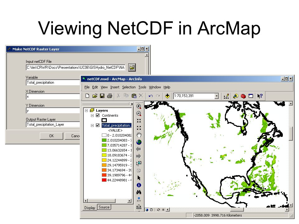 Viewing NetCDF in ArcMap