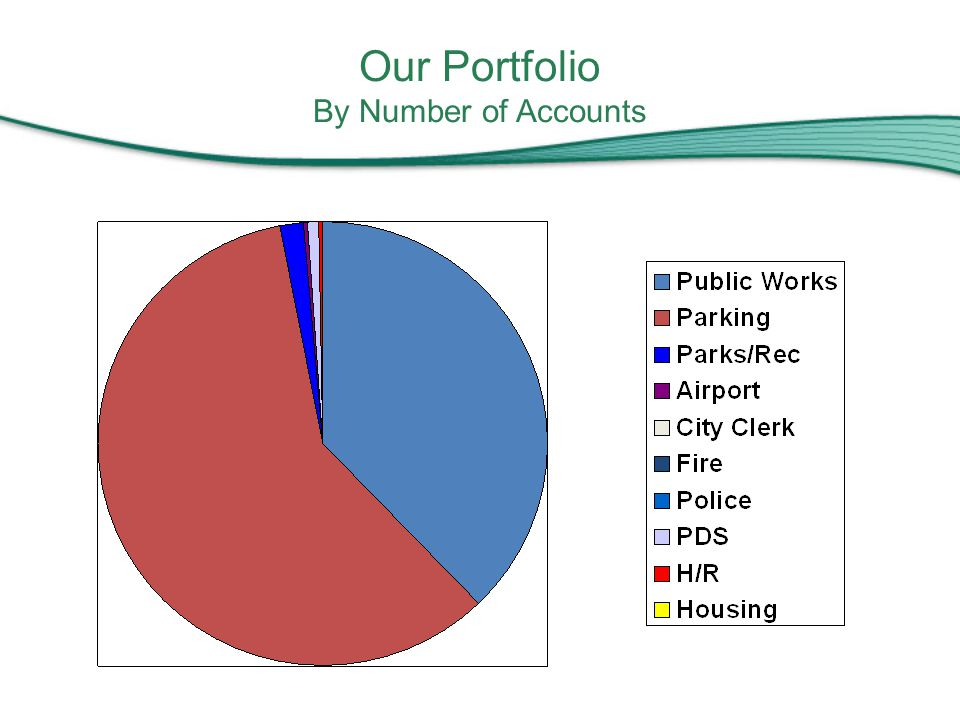 Our Portfolio By Number of Accounts