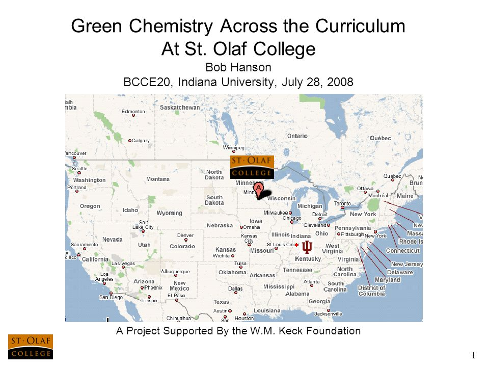 1 Green Chemistry Across the Curriculum At St.