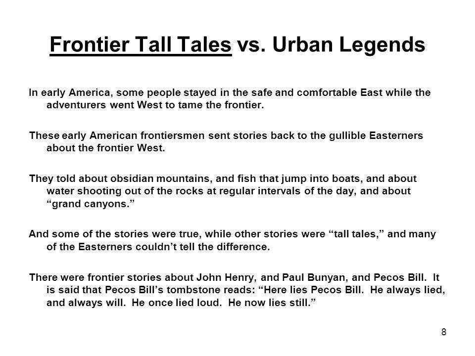 8 Frontier Tall Tales vs.