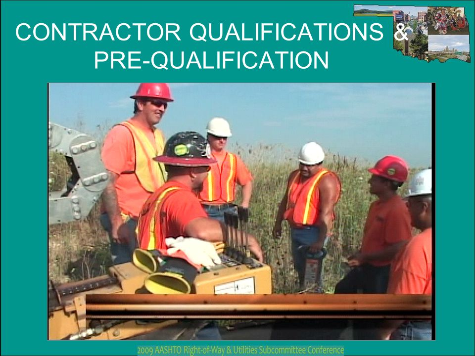 CONTRACTOR QUALIFICATIONS & PRE-QUALIFICATION
