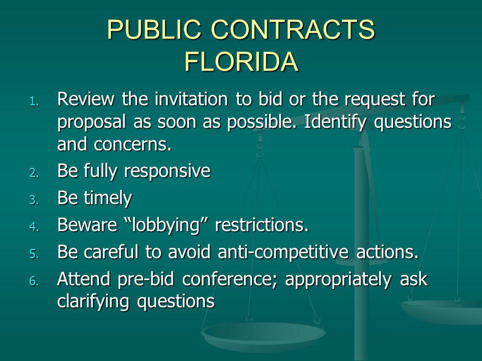 PUBLIC CONTRACTS FLORIDA 1.