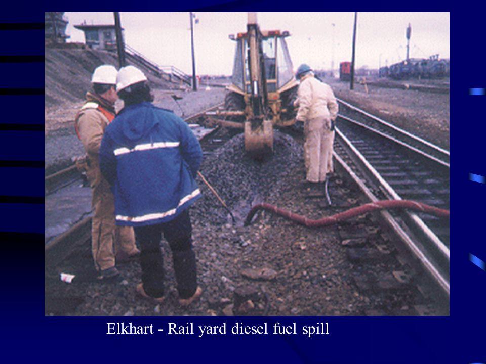 Elkhart - Rail yard diesel fuel spill