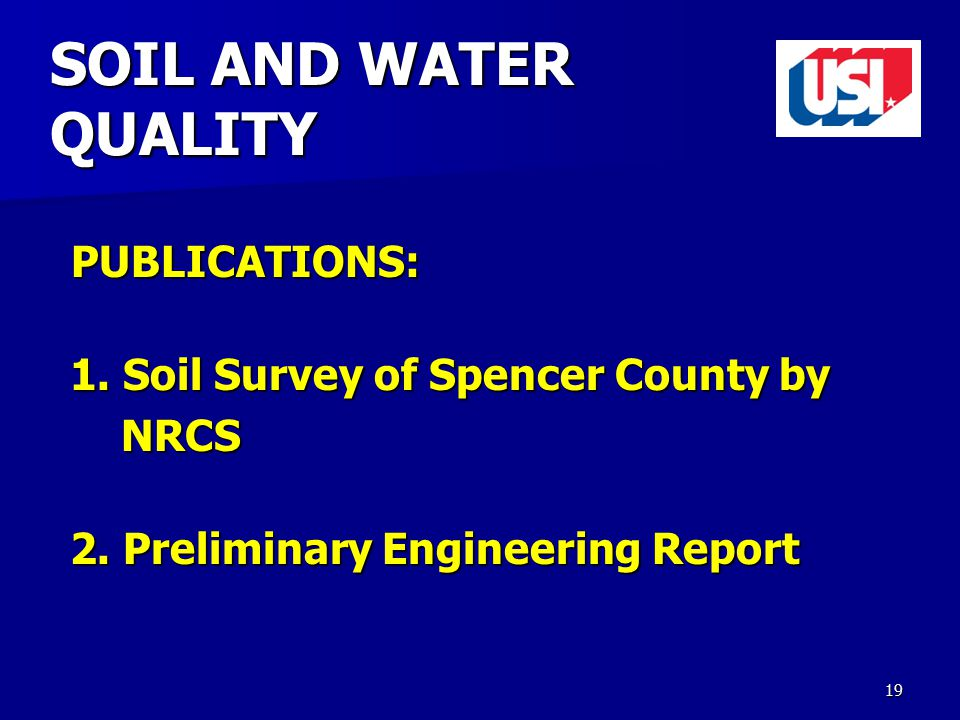 SOIL AND WATER QUALITY PUBLICATIONS: PUBLICATIONS: 1.
