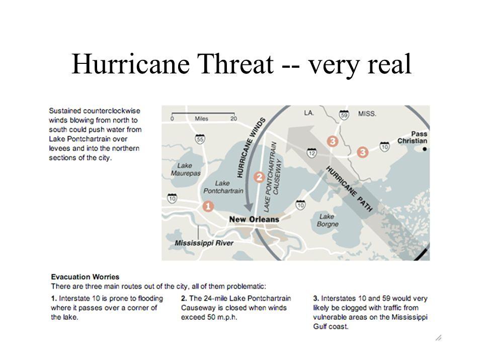 Hurricane Threat -- very real
