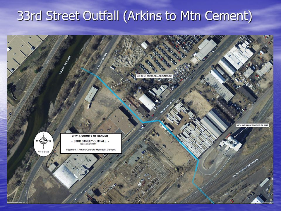 33rd Street Outfall (Arkins to Mtn Cement)
