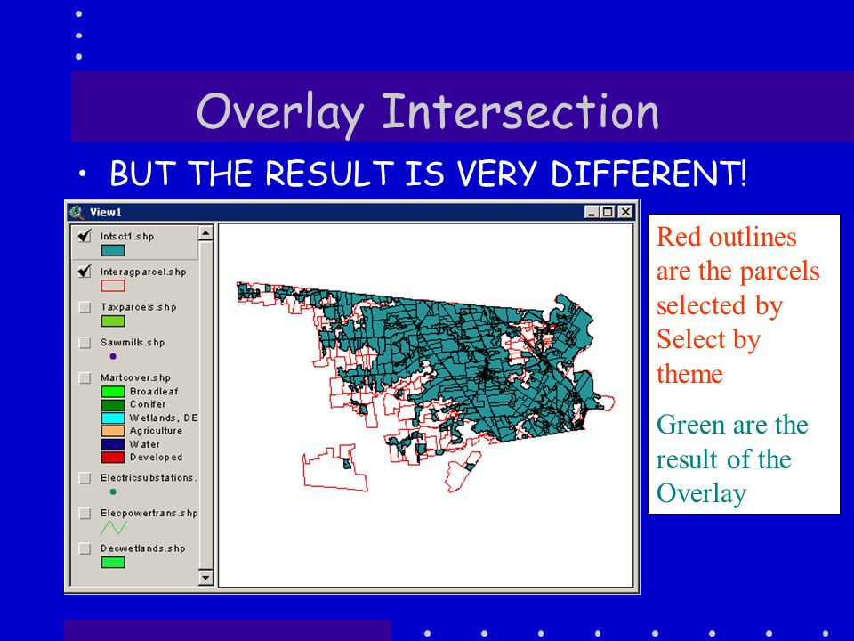 Overlay Intersection BUT THE RESULT IS VERY DIFFERENT.