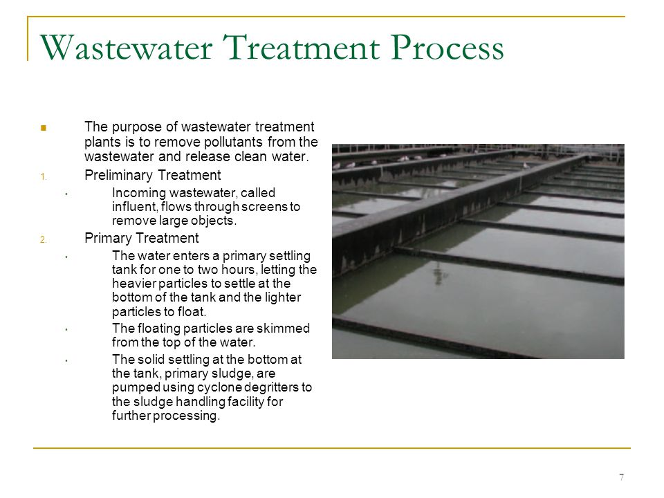 8 Wastewater Treatment Process 3.