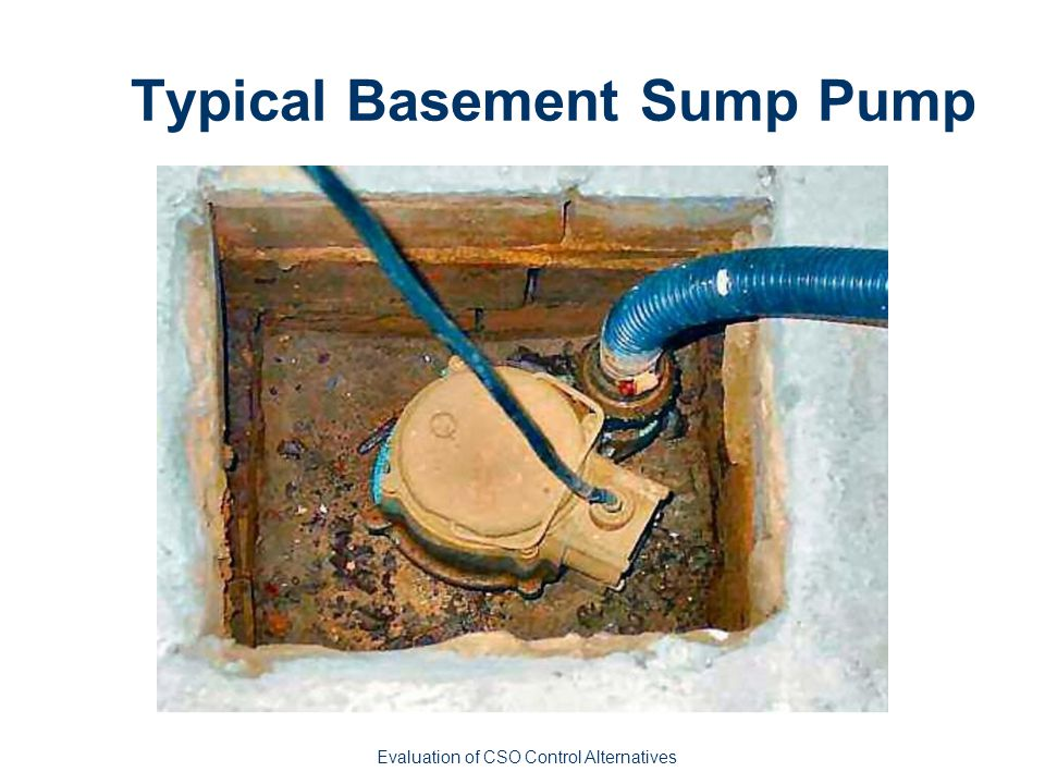 Typical Basement Sump Pump Evaluation of CSO Control Alternatives