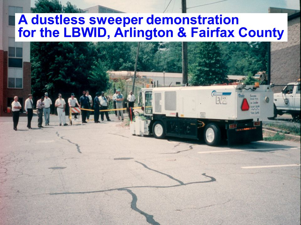 A dustless sweeper demonstration for the LBWID, Arlington & Fairfax County