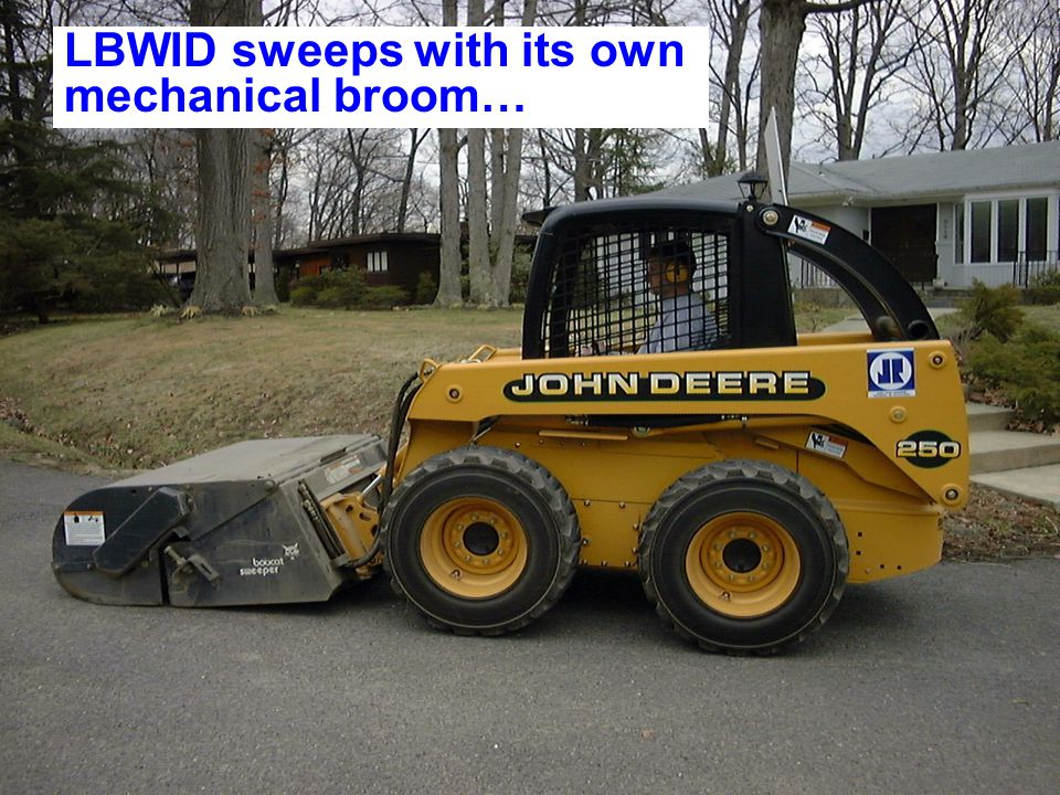 LBWID sweeps with its own mechanical broom…