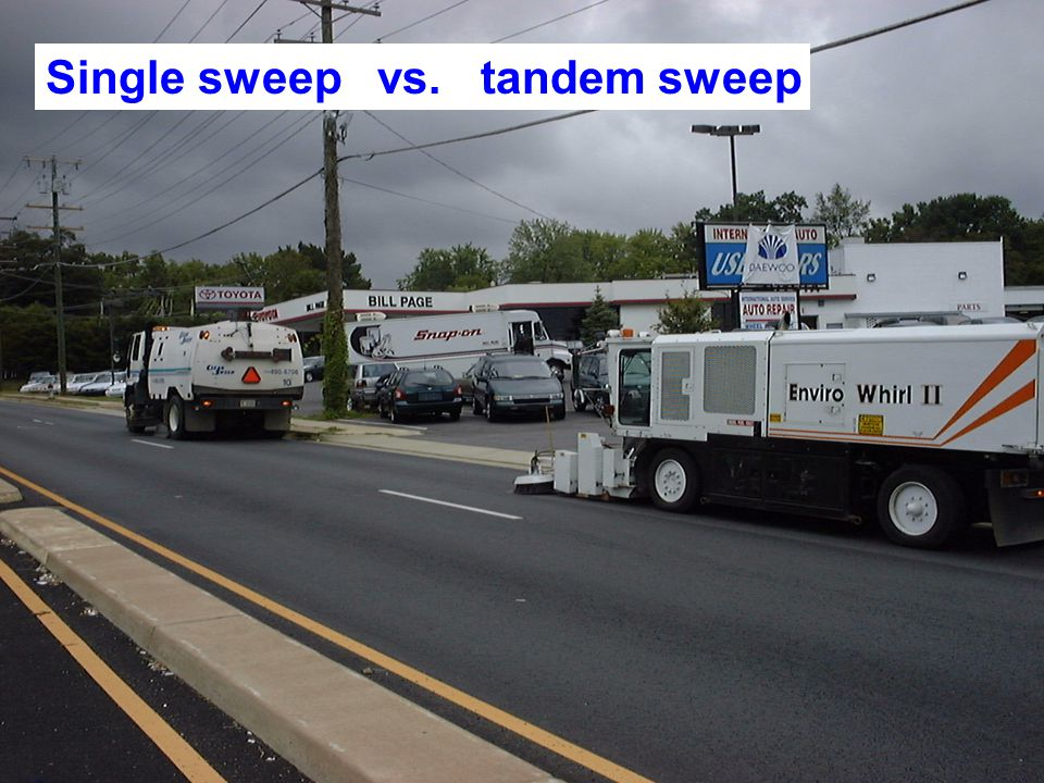 Single sweep vs. tandem sweep