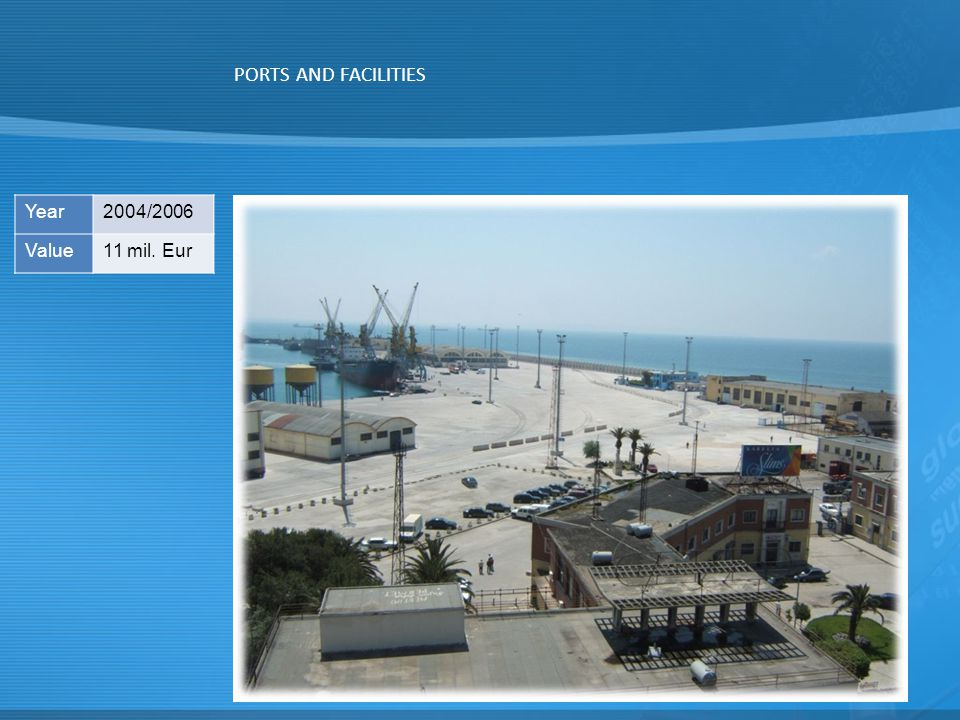 PORTS AND FACILITIES Year2004/2006 Value11 mil. Eur