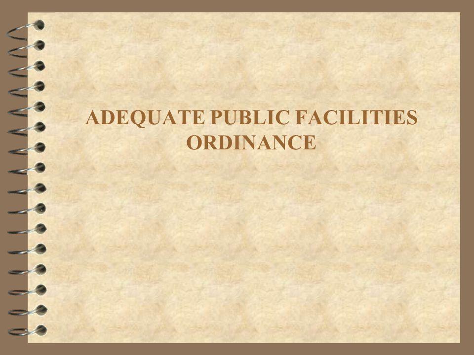ADEQUATE PUBLIC FACILITIES ORDINANCE