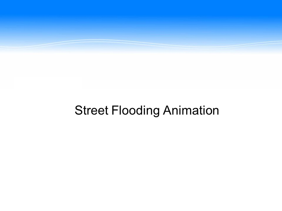 Street Flooding Animation