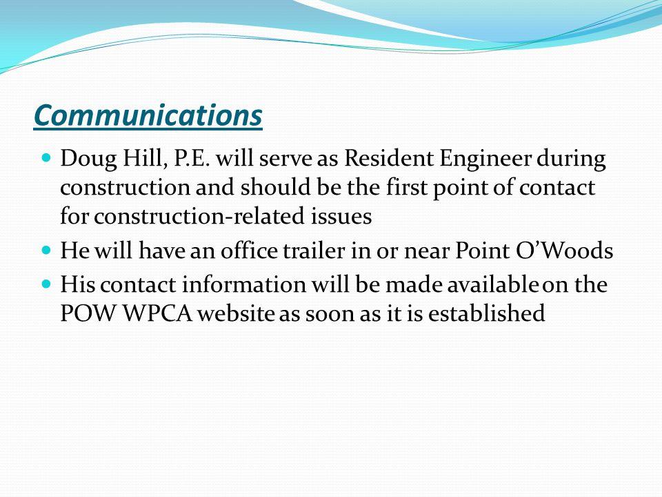 Communications Doug Hill, P.E.