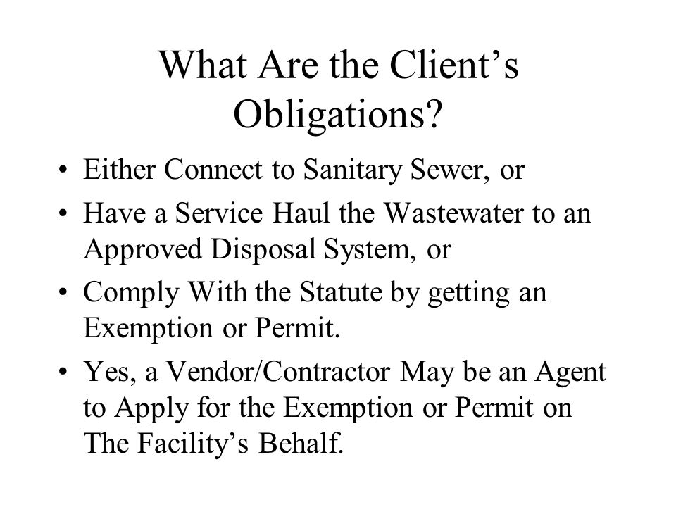 What Would Prevent an Exemption Approval.Any Potential For Surface Discharge.