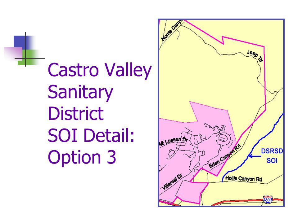 Castro Valley Sanitary District SOI Detail: Option 3