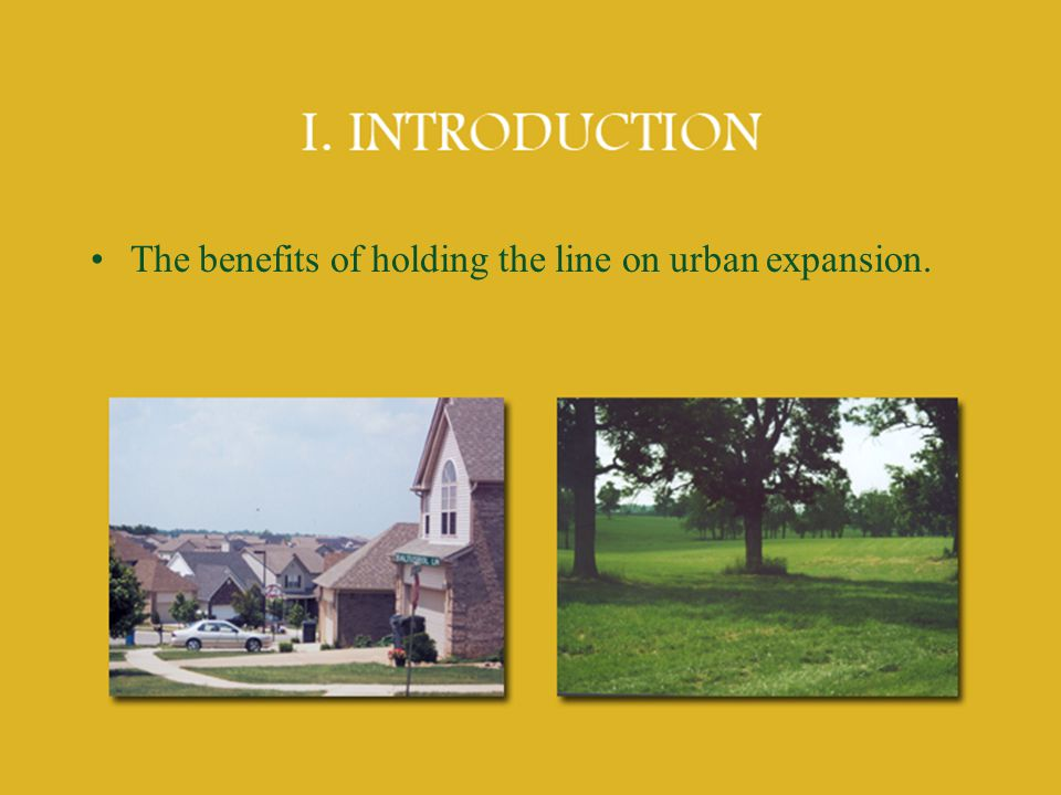 The benefits of holding the line on urban expansion.
